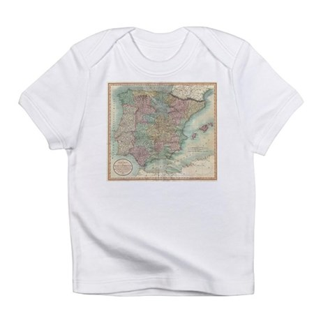 Vintage Map of Spain and Portugal (1801) T-Shirt