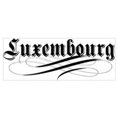 Luxembourg Gothic Poster
