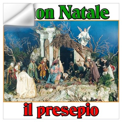 Buon Natale (Merry Christmas) Il Presepio Small Fr Wall Decal