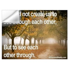 """To See Each Other Through"" Wall Decal"