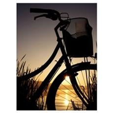 Sunrise&Bicycle Poster