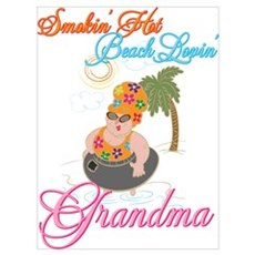 Beach Lovin Grandma Poster