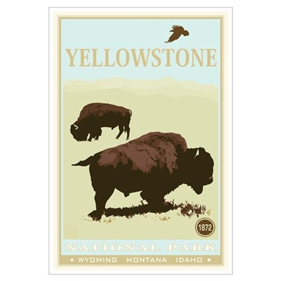 National Parks - Yellowstone Framed Print