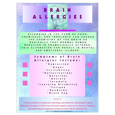 Large Brain Allergy for NAET Canvas Art