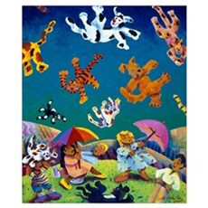 'Raining Cats & Dogs!' Poster