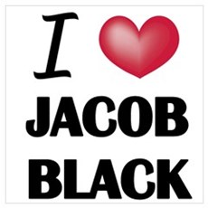 I love Jacob Black Framed Print