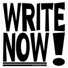 WRITE NOW! Canvas Art