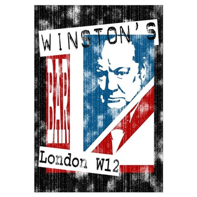 Worn British Churchill Bar Canvas Art