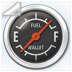 Gas Gauge Wall Decal