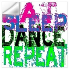 Eat Sleep Dance Repeat Wall Decal