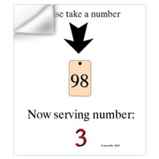 Take a number Wall Decal