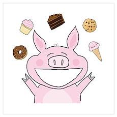 Dessert Pig Poster