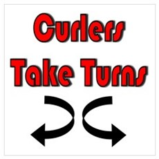 Curlers Take Turns Poster