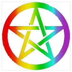 Gay pride Pentagram Poster