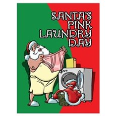 Santa's Pink Laundry Day Poster