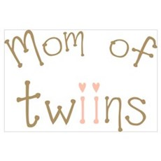 Mom of Twin Girls Twiin Canvas Art