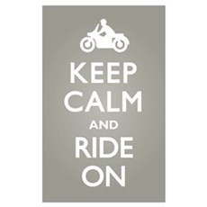 Keep Calm and Ride On Framed Print