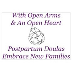 Postpartum Doula Embrace Canvas Art