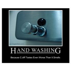 Infection Control Humor 01 Framed Print