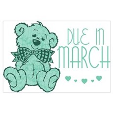 Green Marble Teddy Due In March Poster