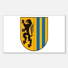 Leipzig Coat of Arms Rectangle Decal