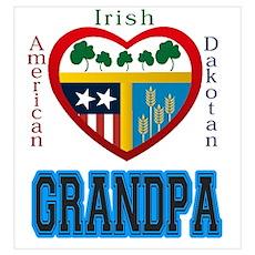 Irish Dakotan Grandpa Poster