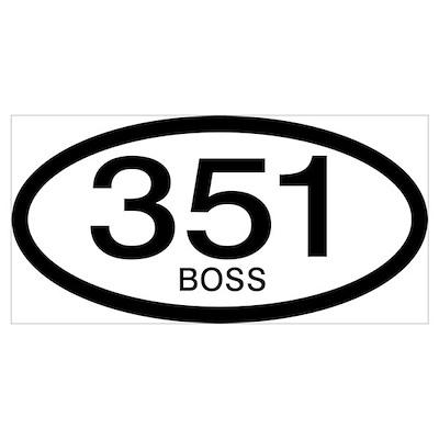 Vintage Ford Boss 351 c.i.d. Poster