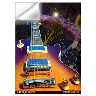 Guitar Art 3 Wall Decal