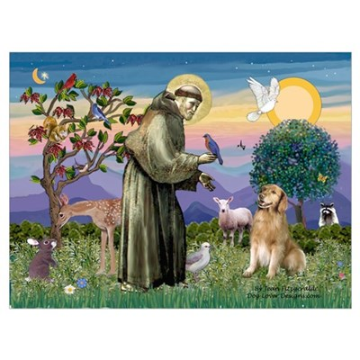 St Francis Golden Canvas Art
