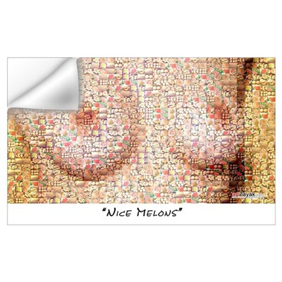 Nice Melons (photo collage of melons) Wall Decal