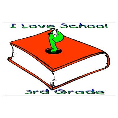 Bookworm 3rd Grade Poster