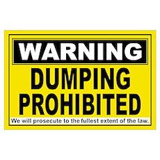 DUMPING PROHIBITED Poster
