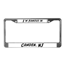 Famous in Camden License Plate Frame