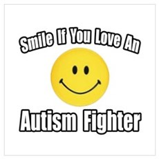 """""""Love an Autism Fighter"""" Poster"""