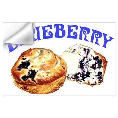 Painted Blueberry Muffins Wall Decal