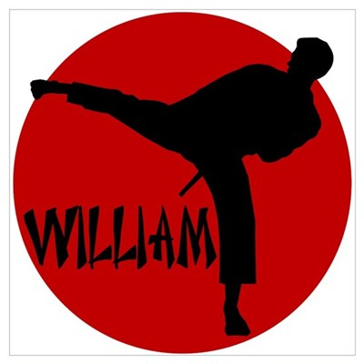 William Karate Framed Print