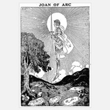 Cute Joan of arc Wall Art