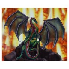 Dragons Fire Canvas Art