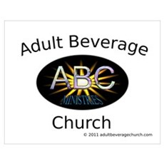 Adult Beverage Church Poster