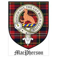 MacPherson Clan Crest Tartan Poster