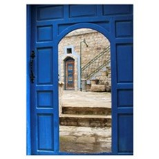 Tsfat Israel Mystical Doors Poster
