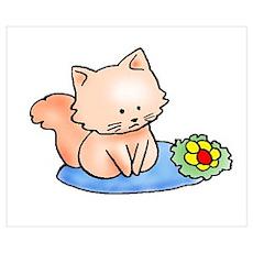 Cute Pink Kitten Poster