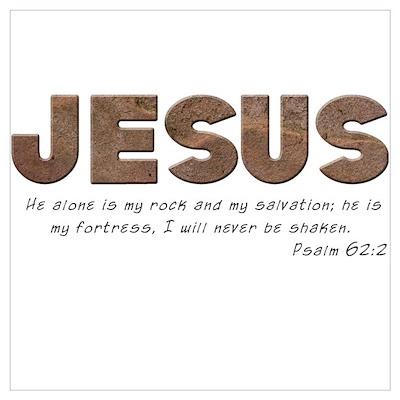 Jesus - My rock Poster