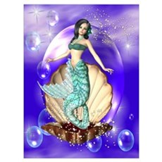 Sparkling Mermaid Poster