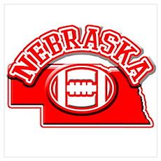 Nebraska Football Poster