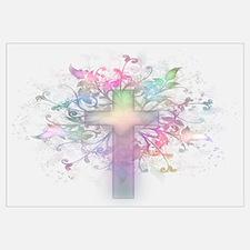 Pastel Floral Cross