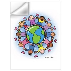 Kids On Earth Wall Art Wall Decal