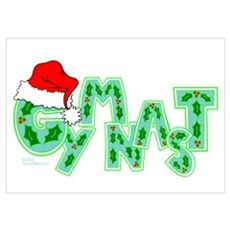 Santa Gymnast Poster