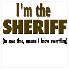 I'm the Sheriff Canvas Art