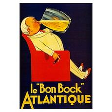 Atlantique Bock Beer Poster